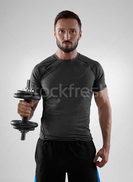 Sportsman weightlifting Stock photo © goir