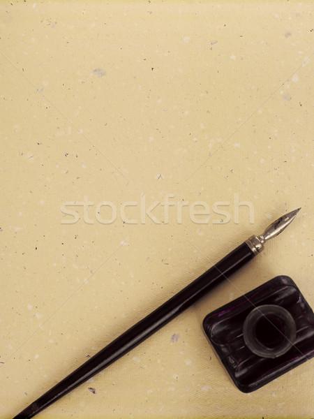 écrit stylo manuscrit encre bien éducation Photo stock © goir