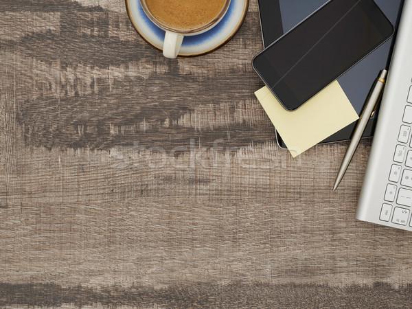 непосредственно мнение рабочих таблице Сток-фото © goir