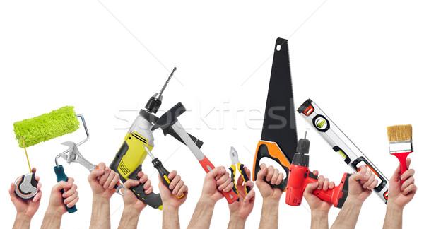 Mains outils différent foule Photo stock © goir