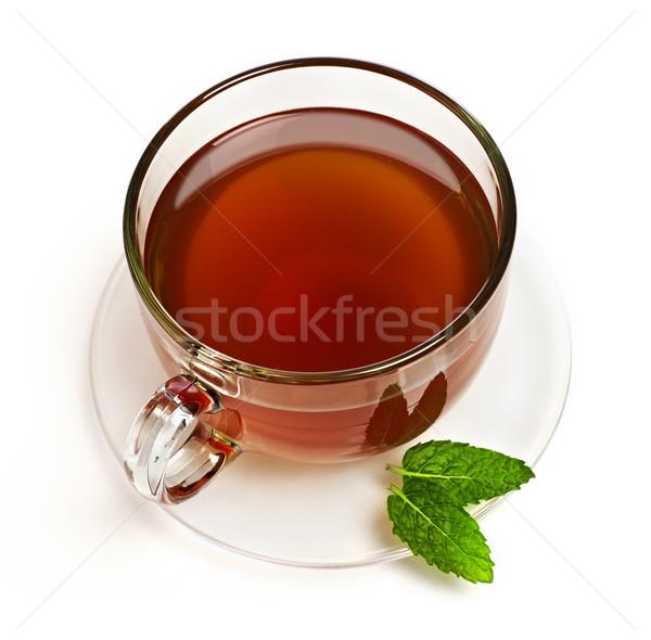 Сток-фото: Кубок · чай · изолированный · белый · жидкость