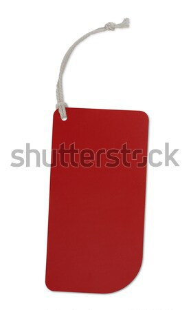 Photo stock: Rouge · tag · isolé · blanche · signe · vente