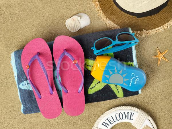 Summer time on beach Stock photo © goir