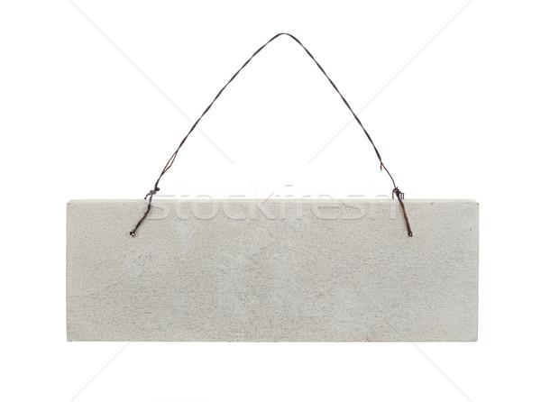 Akasztás plakát izolált fehér keret felirat Stock fotó © goir