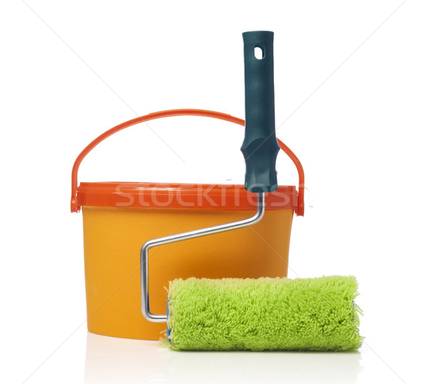 Paint roller and paint can Stock photo © goir