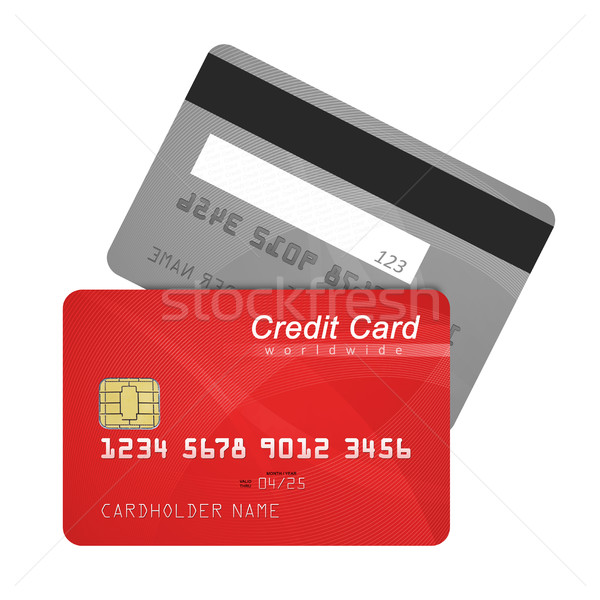Credit card front and back Stock photo © goir