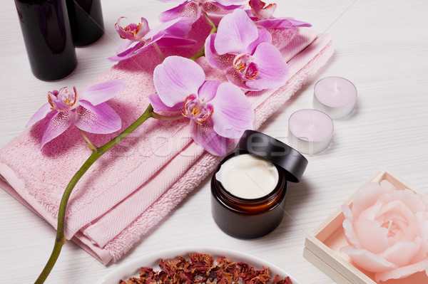 Spa fleur corps médecine horizons luxe Photo stock © goir