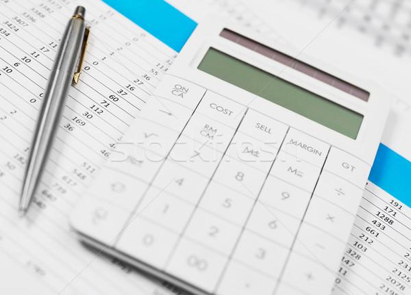 金融 金融 データ 論文 電卓 業界 ストックフォト © goir