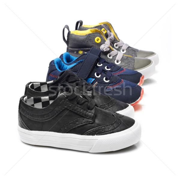 Enfants chaussures isolé blanche mode enfant Photo stock © goir