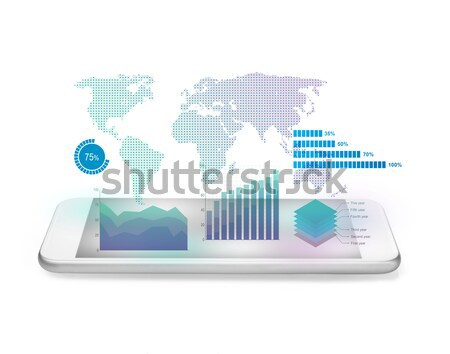 Futuristic world map interface concept Stock photo © goir