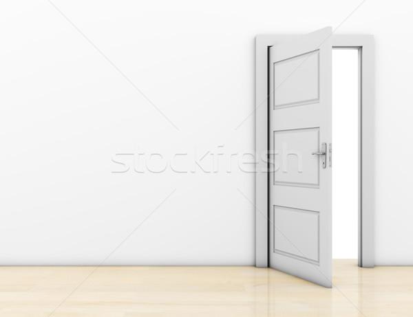 Porte ouverte chambre porte liberté blanche Photo stock © goir