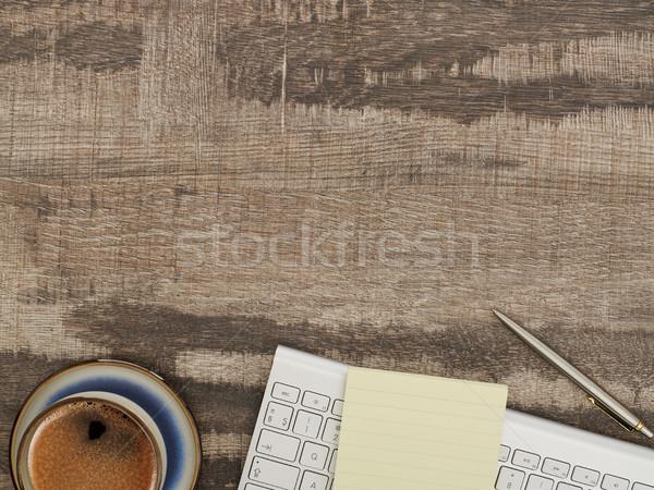 Trabalhando secretária diretamente acima ver tabela Foto stock © goir