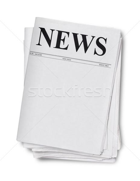 újság izolált fehér cím magazin üres Stock fotó © goir