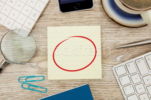 接着剤 注記 デスク 紙 鉛筆 にログイン ストックフォト © goir