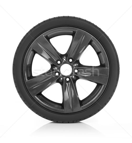 Autó kerék izolált fehér sport fém Stock fotó © goir