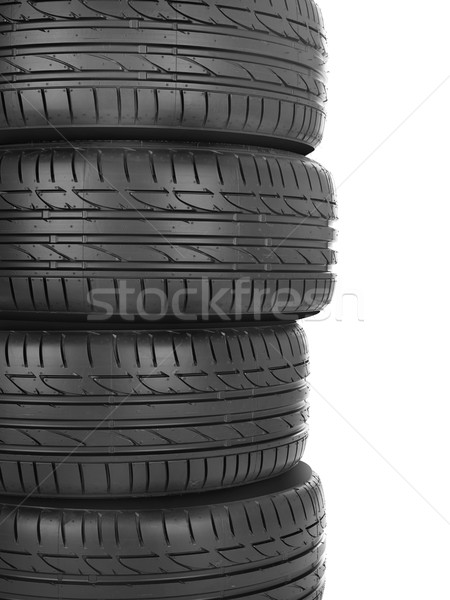 Zdjęcia stock: Opony · samochodu · odizolowany · biały · sportu