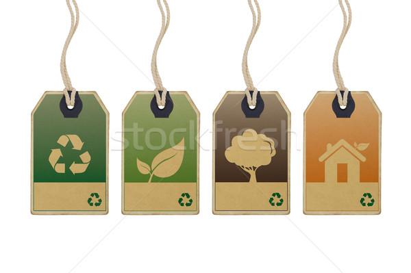 Eco friendly tags Stock photo © goir