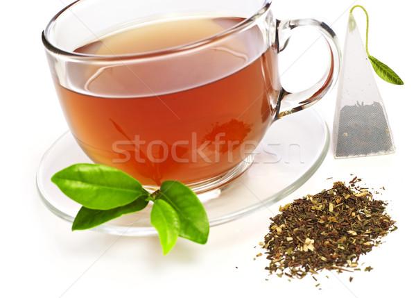 Kubek herbaty odizolowany biały pić kubek Zdjęcia stock © goir