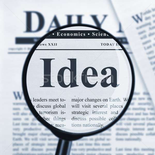 Idea under magnifying glass Stock photo © goir