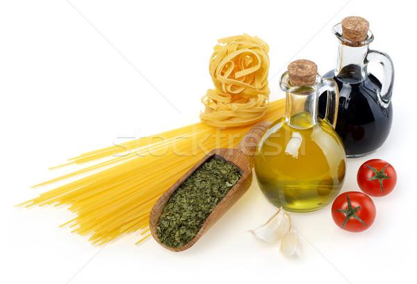 生 材料 イタリア料理 孤立した 白 トマト ストックフォト © goir