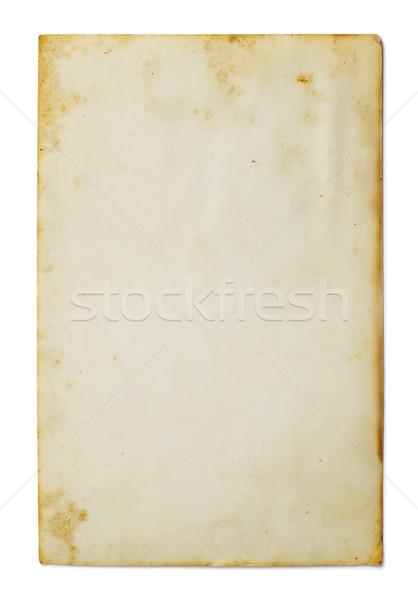 Vieille photo isolé blanche résumé cadre art Photo stock © goir
