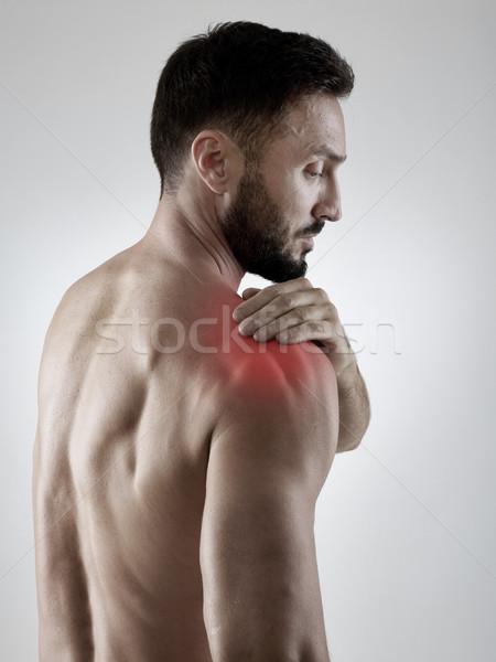 Ból barku sportowiec sportu czerwony ból sportowiec Zdjęcia stock © goir