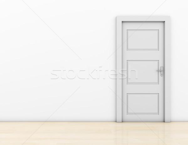 Fermé porte chambre liberté blanche Photo stock © goir
