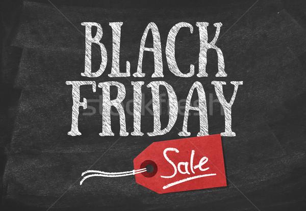 Black friday vente bannière tableau noir signe marketing Photo stock © goir