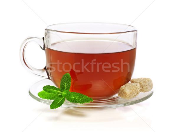 Сток-фото: Кубок · чай · мята · изолированный · белый · пить