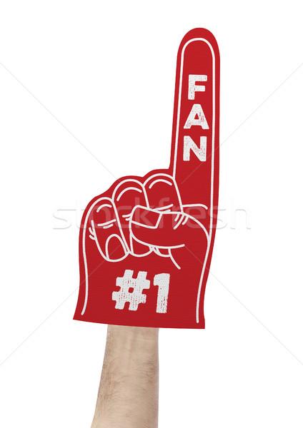 Number 1 fan foam hand Stock photo © goir