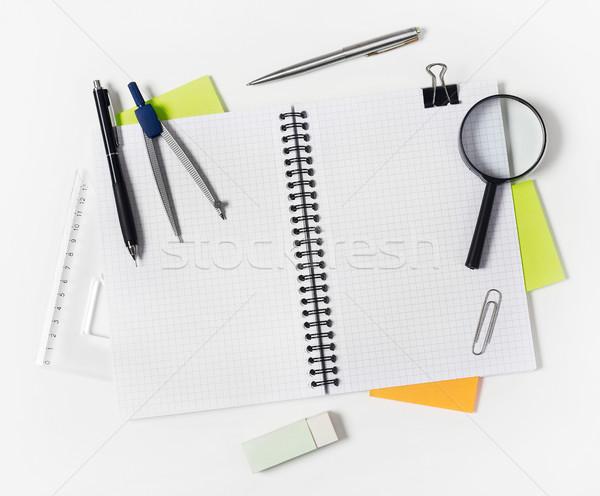 Portable blanche stylo crayon éducation Photo stock © goir