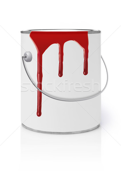 Dripping paint on can Stock photo © goir