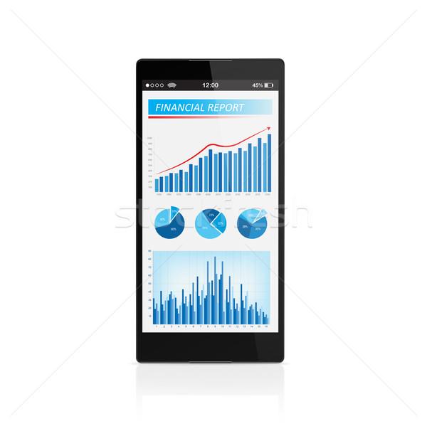 роста мобильного телефона бизнеса развития технологий Сток-фото © goir
