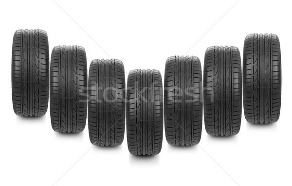 Auto wielen geïsoleerd witte sport metaal Stockfoto © goir