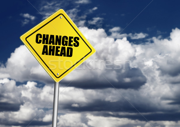 Changes ahead sign Stock photo © goir
