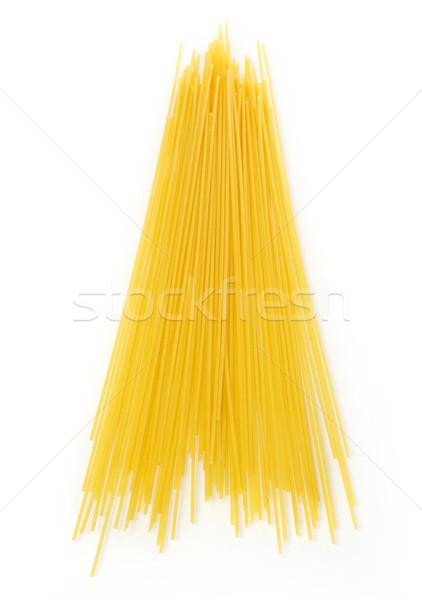 Spaghettis isolé blanche alimentaire pâtes fond blanc Photo stock © goir