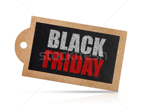 Black friday címke izolált fehér felirat marketing Stock fotó © goir