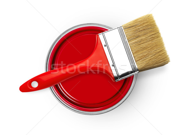 Paintbrush and paint can Stock photo © goir
