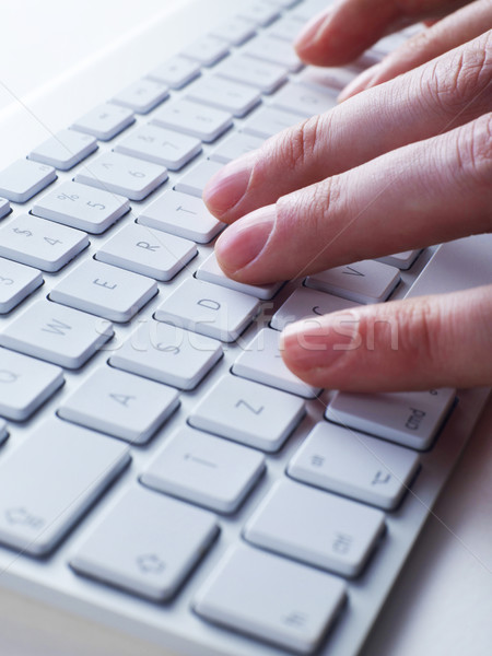 ストックフォト: 指 · キーボード · 男 · 入力 · コンピュータのキーボード · 技術