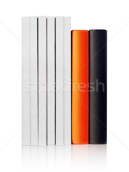 Boeken wervelkolom witte geïsoleerd ingesteld Stockfoto © goir