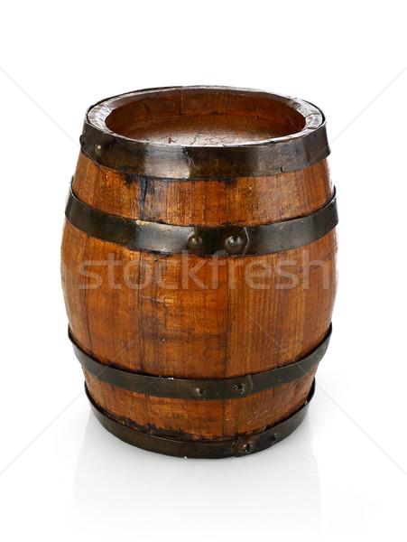 Vat geïsoleerd witte wijn achtergronden pub Stockfoto © goir