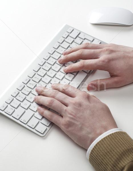 キーボード 手 インターネット 技術 作業 デスク ストックフォト © goir