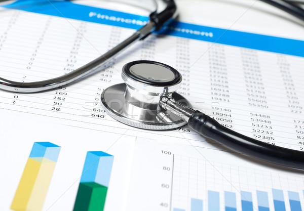 Stethoscoop papieren business arts wetenschap grafiek Stockfoto © goir