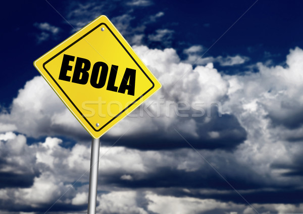 Ebola ahead sign Stock photo © goir