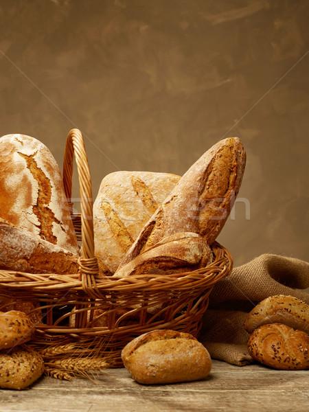 Bread selection in a basket Stock photo © goir