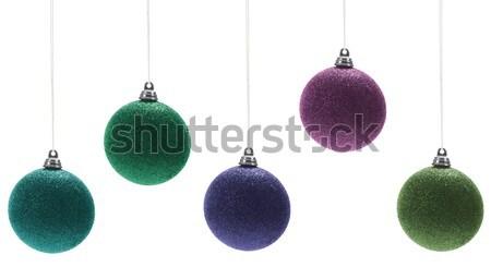 Noël décorations blanche Photo stock © goir