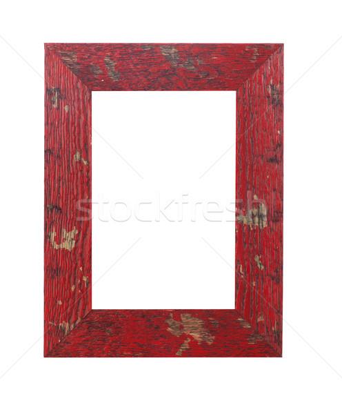 Houten frame witte fotolijstje luxe decoratie lege Stockfoto © goir