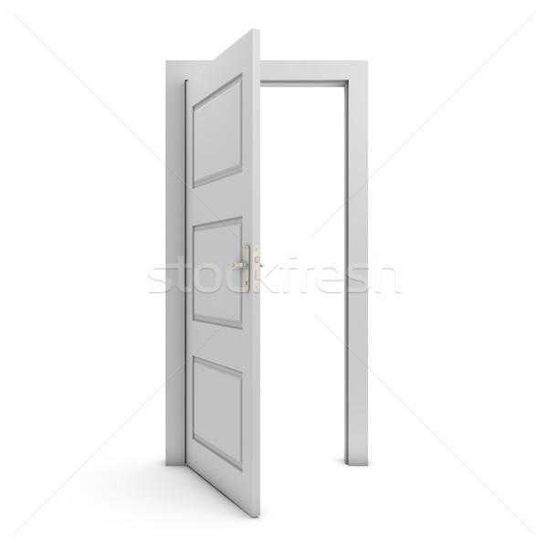 オープンドア 孤立した 白 ドア 自由 白地 ストックフォト © goir