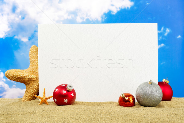 Рождества праздник сообщение совета копия пространства Starfish Сток-фото © goir
