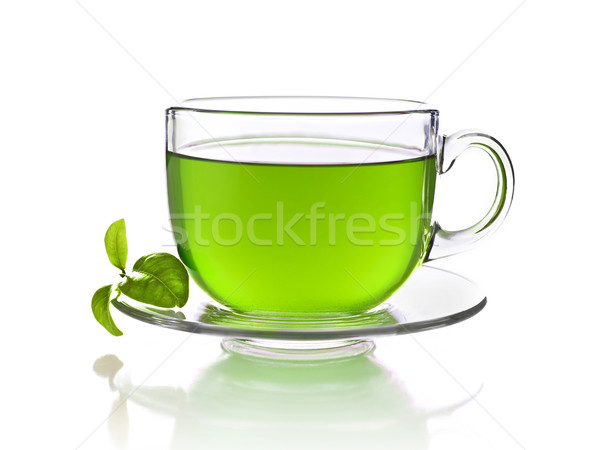 зеленый чай Кубок чай изолированный белый жидкость Сток-фото © goir